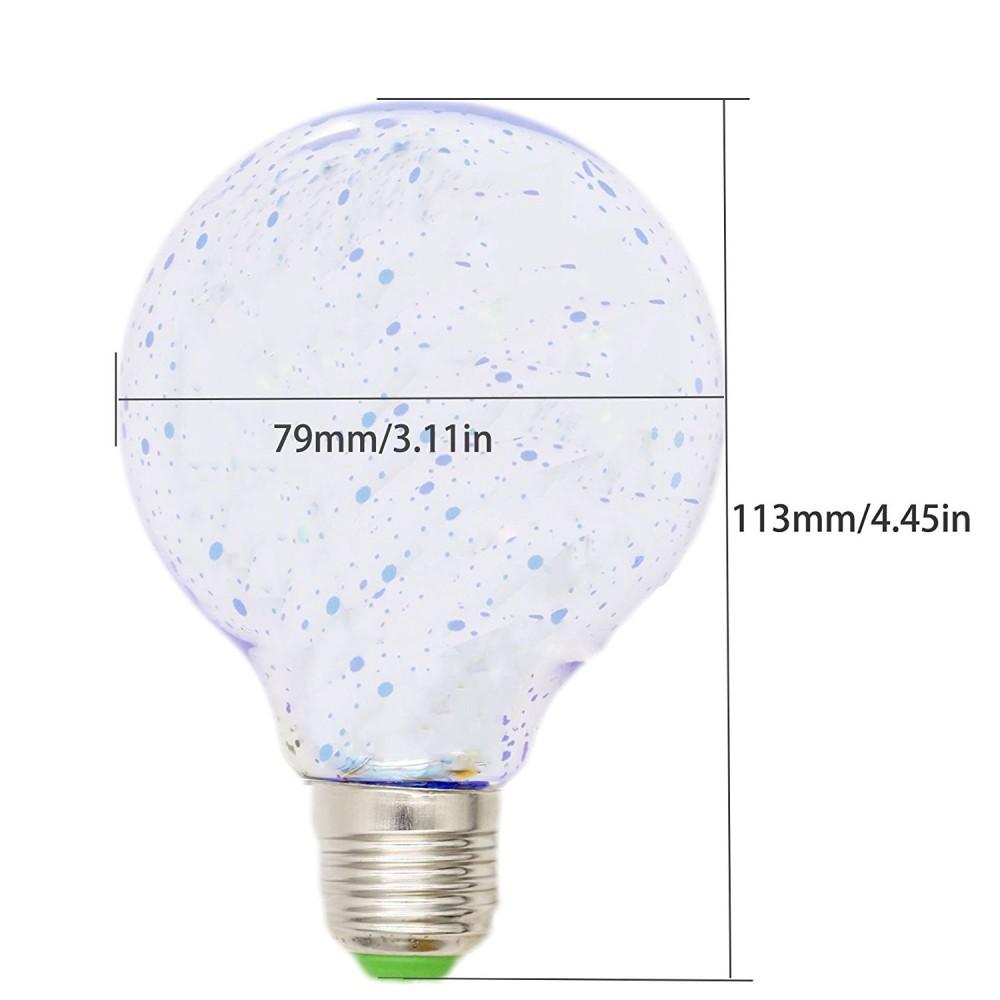 Mizzuco Colorful 3D Light Bulb Edison E27 LED Bulb Lamp G125 Filament  Fireworks Ball Light Warm ...
