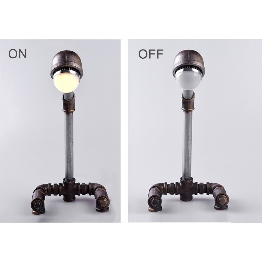 Mizzuco Industrial Retro Vintage style Table Lamp Iron Pipe Desk ...