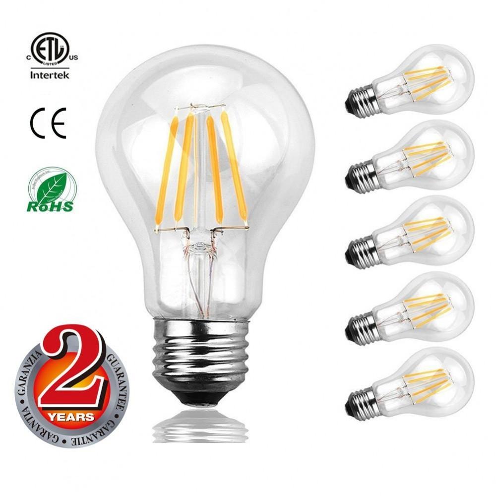 Mizzuco Vintage Edison Led Bulb 3 5w A19 Antique Light 40 Watt Equivalent Warm