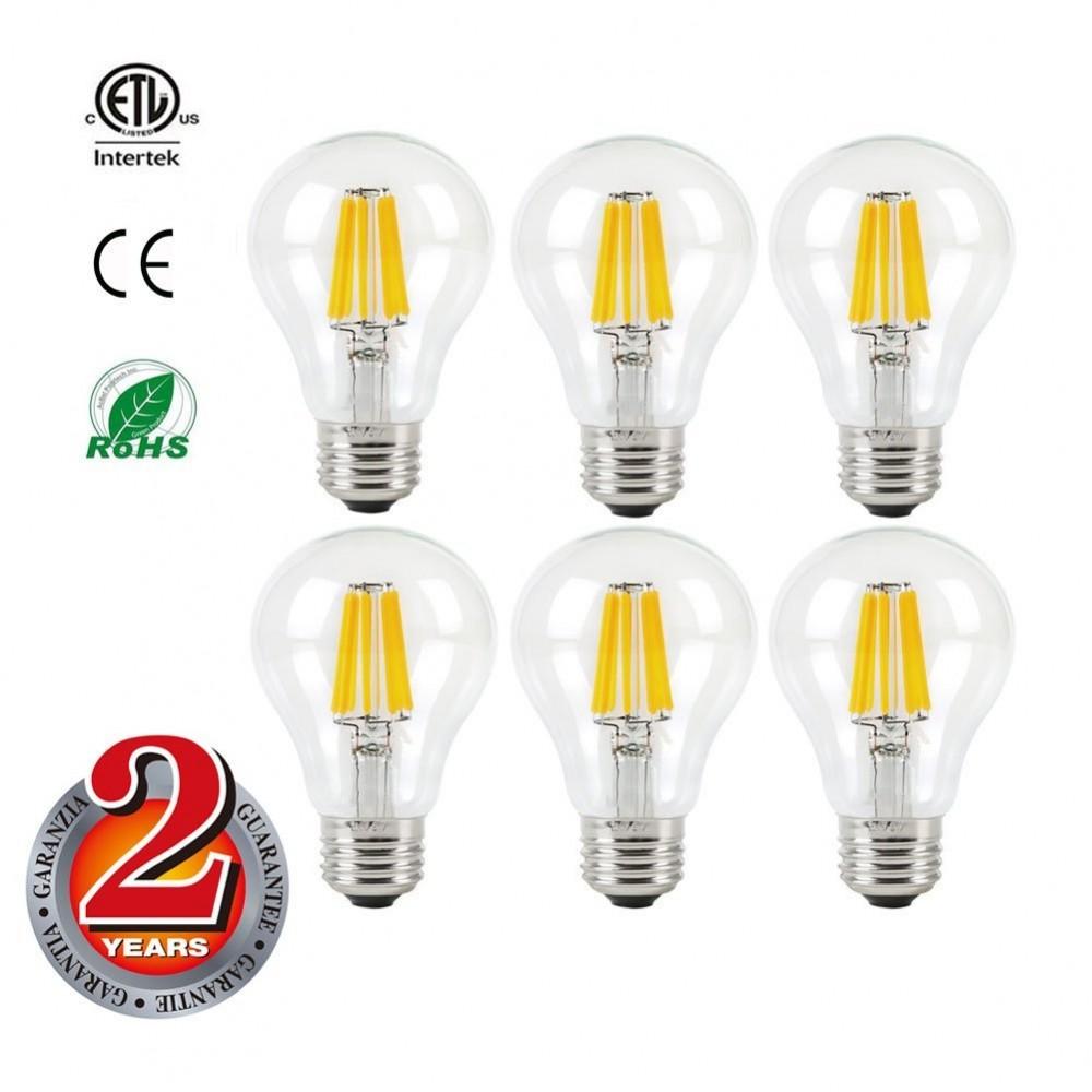 Mizzuco Vintage Edison Led Bulb 6 5w A19 Antique Light 75 Watt Equivalent Warm